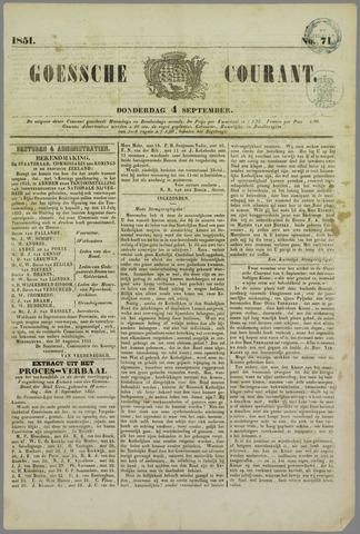 Goessche Courant 1851-09-04