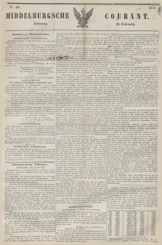 Middelburgsche Courant 1851-02-22
