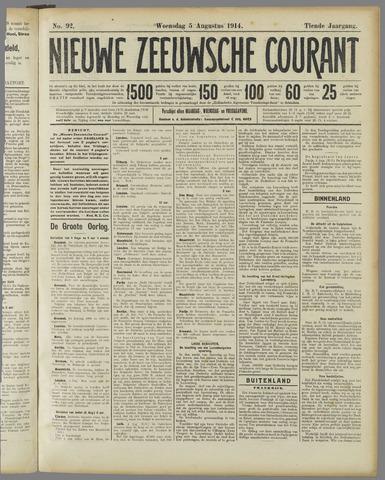 Nieuwe Zeeuwsche Courant 1914-08-05