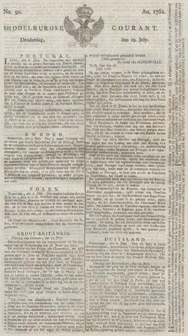 Middelburgsche Courant 1762-07-29