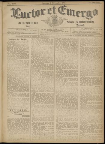 Luctor et Emergo. Antirevolutionair nieuws- en advertentieblad voor Zeeland / Zeeuwsch-Vlaanderen. Orgaan ter verspreiding van de christelijke beginselen in Zeeuwsch-Vlaanderen 1917-11-03