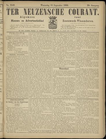 Ter Neuzensche Courant. Algemeen Nieuws- en Advertentieblad voor Zeeuwsch-Vlaanderen / Neuzensche Courant ... (idem) / (Algemeen) nieuws en advertentieblad voor Zeeuwsch-Vlaanderen 1889-09-18