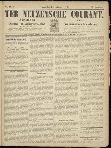 Ter Neuzensche Courant. Algemeen Nieuws- en Advertentieblad voor Zeeuwsch-Vlaanderen / Neuzensche Courant ... (idem) / (Algemeen) nieuws en advertentieblad voor Zeeuwsch-Vlaanderen 1883-02-24