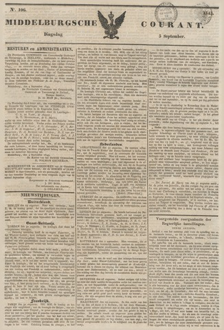 Middelburgsche Courant 1843-09-05