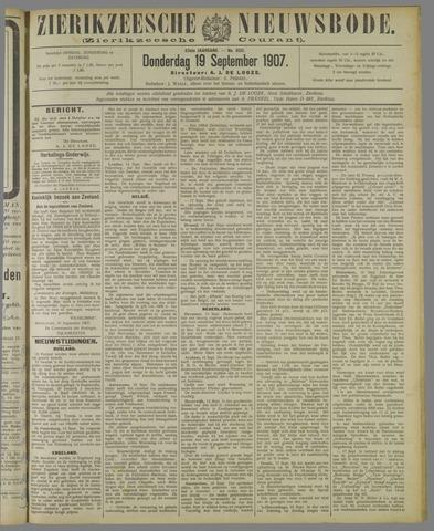 Zierikzeesche Nieuwsbode 1907-09-19