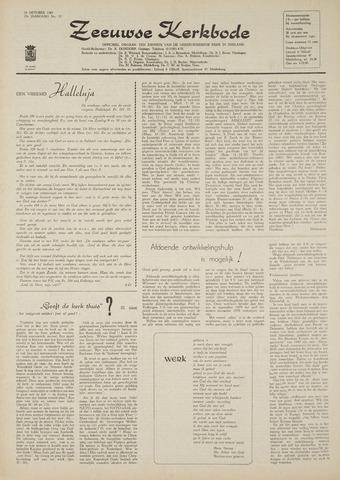 Zeeuwsche kerkbode, weekblad gewijd aan de belangen der gereformeerde kerken/ Zeeuwsch kerkblad 1969-10-16