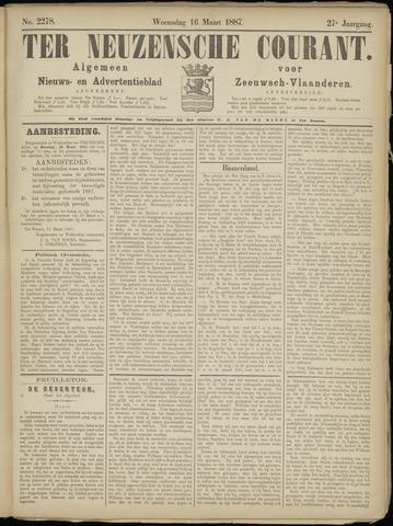 Ter Neuzensche Courant. Algemeen Nieuws- en Advertentieblad voor Zeeuwsch-Vlaanderen / Neuzensche Courant ... (idem) / (Algemeen) nieuws en advertentieblad voor Zeeuwsch-Vlaanderen 1887-03-16