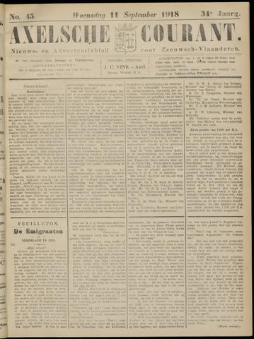 Axelsche Courant 1918-09-11