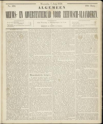Ter Neuzensche Courant. Algemeen Nieuws- en Advertentieblad voor Zeeuwsch-Vlaanderen / Neuzensche Courant ... (idem) / (Algemeen) nieuws en advertentieblad voor Zeeuwsch-Vlaanderen 1870-06-01