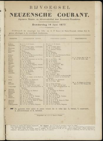 Ter Neuzensche Courant. Algemeen Nieuws- en Advertentieblad voor Zeeuwsch-Vlaanderen / Neuzensche Courant ... (idem) / (Algemeen) nieuws en advertentieblad voor Zeeuwsch-Vlaanderen 1877-06-14
