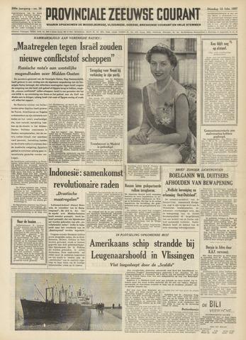 Provinciale Zeeuwse Courant 1957-02-12