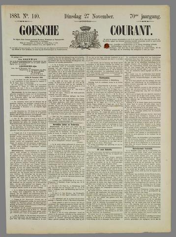 Goessche Courant 1883-11-27