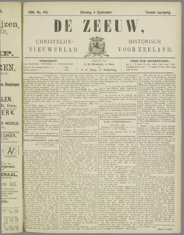 De Zeeuw. Christelijk-historisch nieuwsblad voor Zeeland 1888-09-04