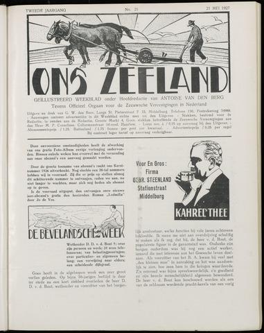 Ons Zeeland / Zeeuwsche editie 1927-05-21