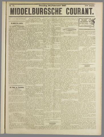 Middelburgsche Courant 1927-02-22