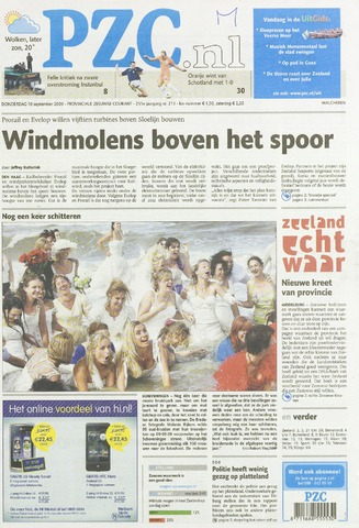 Provinciale Zeeuwse Courant 2009-09-10