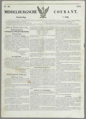 Middelburgsche Courant 1855-07-05