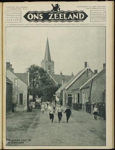 Ons Zeeland / Zeeuwsche editie 1932-09-09