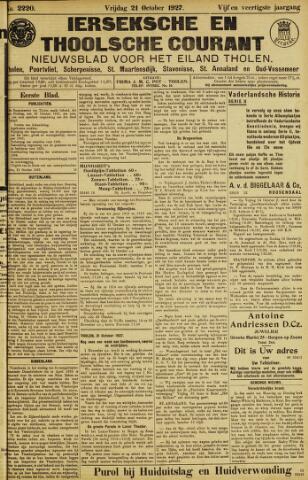 Ierseksche en Thoolsche Courant 1927-10-21