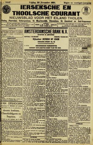 Ierseksche en Thoolsche Courant 1931-11-20
