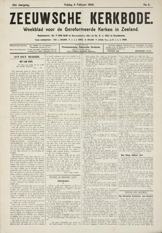 Zeeuwsche kerkbode, weekblad gewijd aan de belangen der gereformeerde kerken/ Zeeuwsch kerkblad 1929-02-08