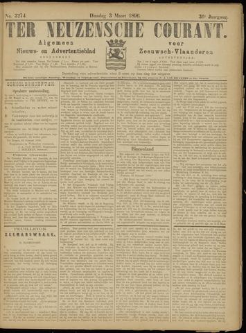 Ter Neuzensche Courant. Algemeen Nieuws- en Advertentieblad voor Zeeuwsch-Vlaanderen / Neuzensche Courant ... (idem) / (Algemeen) nieuws en advertentieblad voor Zeeuwsch-Vlaanderen 1896-03-03