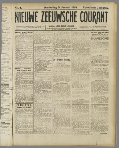 Nieuwe Zeeuwsche Courant 1918-01-03