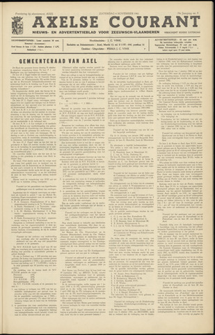 Axelsche Courant 1961-11-04