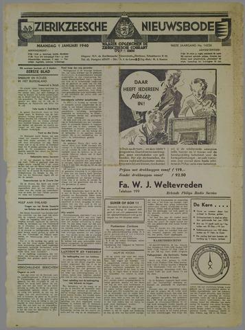 Zierikzeesche Nieuwsbode 1940