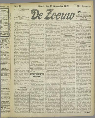 De Zeeuw. Christelijk-historisch nieuwsblad voor Zeeland 1918-11-14