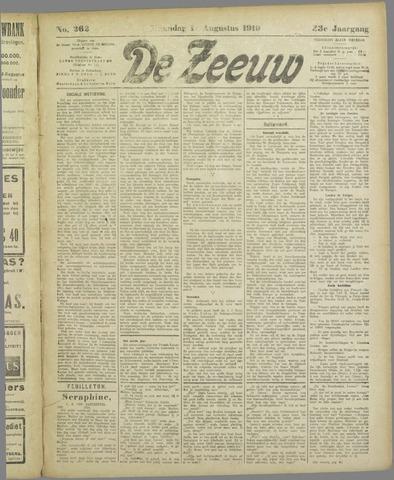 De Zeeuw. Christelijk-historisch nieuwsblad voor Zeeland 1919-08-10