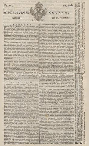 Middelburgsche Courant 1762-08-28