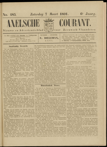 Axelsche Courant 1891-03-07