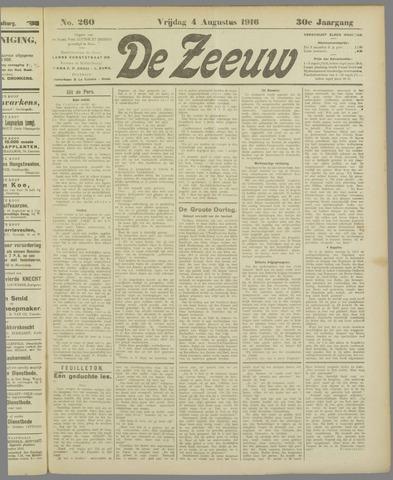 De Zeeuw. Christelijk-historisch nieuwsblad voor Zeeland 1916-08-04