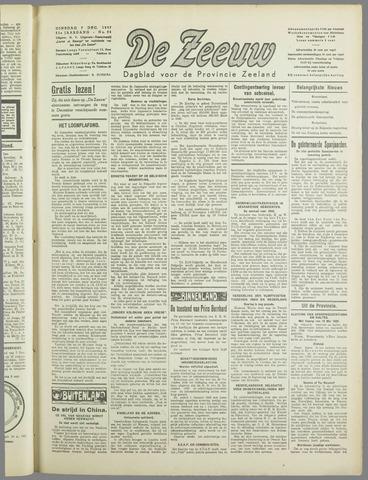 De Zeeuw. Christelijk-historisch nieuwsblad voor Zeeland 1937-12-07