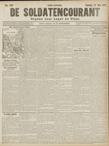 De Soldatencourant. Orgaan voor Leger en Vloot 1917-05-27