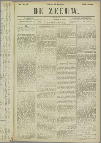 De Zeeuw. Christelijk-historisch nieuwsblad voor Zeeland 1891-08-29