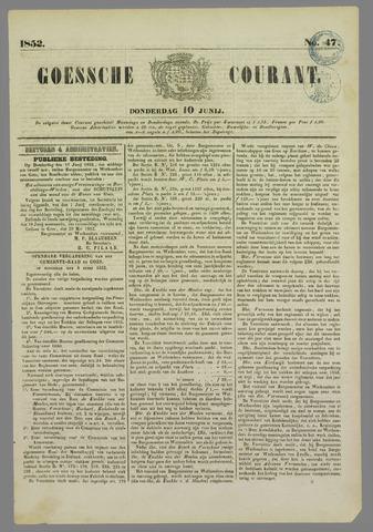 Goessche Courant 1852-06-10