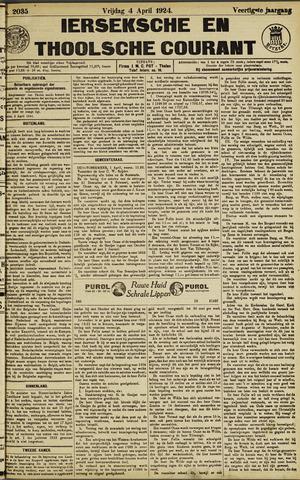 Ierseksche en Thoolsche Courant 1924-04-04
