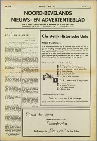 Noord-Bevelands Nieuws- en advertentieblad 1954-04-17