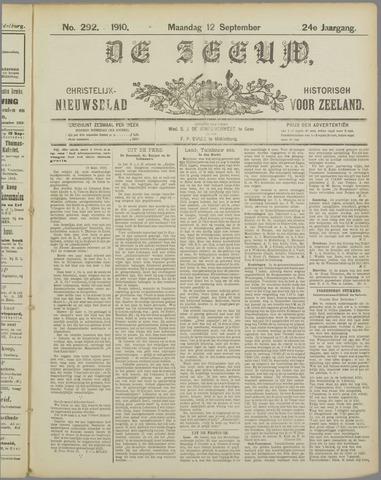 De Zeeuw. Christelijk-historisch nieuwsblad voor Zeeland 1910-09-12