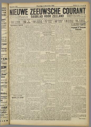 Nieuwe Zeeuwsche Courant 1922-12-04