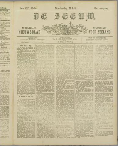 De Zeeuw. Christelijk-historisch nieuwsblad voor Zeeland 1904-07-21
