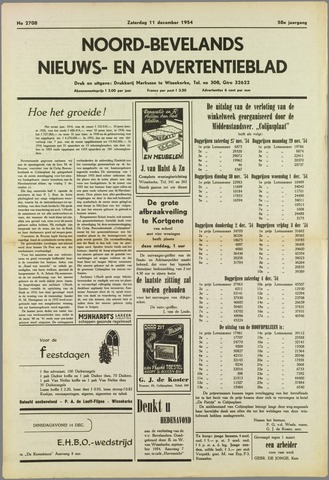 Noord-Bevelands Nieuws- en advertentieblad 1954-12-11