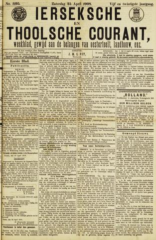 Ierseksche en Thoolsche Courant 1908-04-25
