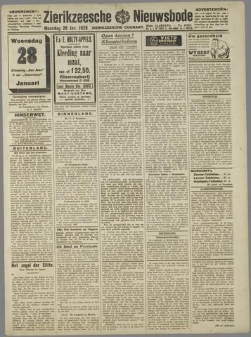 Zierikzeesche Nieuwsbode 1925-01-26