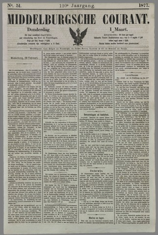 Middelburgsche Courant 1877-03-01