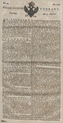 Middelburgsche Courant 1777-08-09