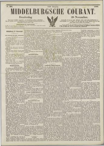 Middelburgsche Courant 1901-11-28