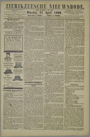 Zierikzeesche Nieuwsbode 1900-04-24